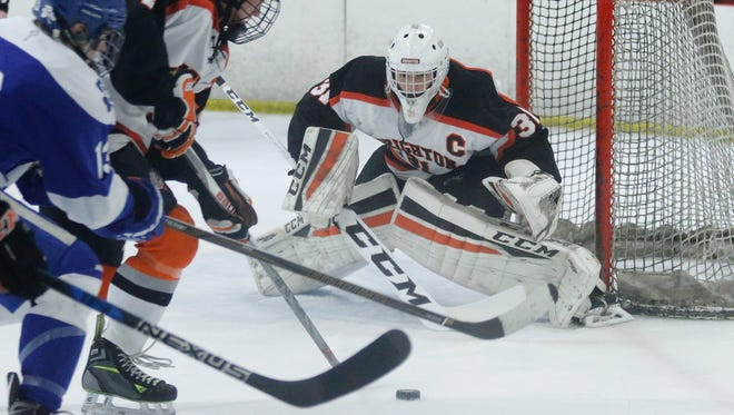 The presence of All-State goalie Logan Neaton is one of the reasons why Brighton is ranked No. 1 in Division 1.