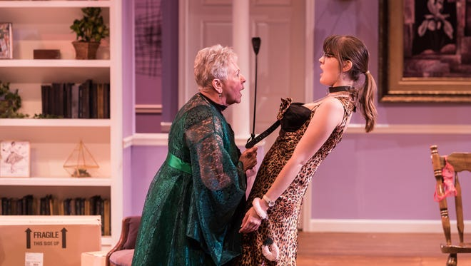 "Trudy Mason and Franny Kromminga in ""Nana's Naughty Knickers"" at Meadow Brook Theatre."