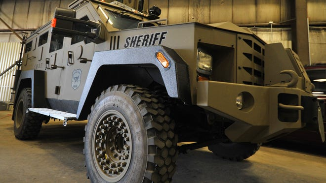 The Marathon County Sheriff's Department said the use of an armored vehicle when officers went to seize property from a couple in early October was justified.
