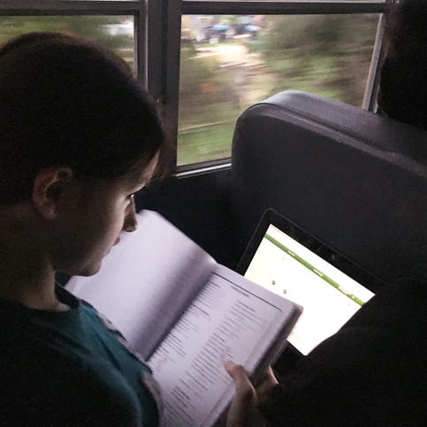 What happens when Google put WiFi on a bus? Kids have time to get work done