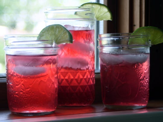 Hibiscus Lime Iced Tea is as pretty as it is refreshing.