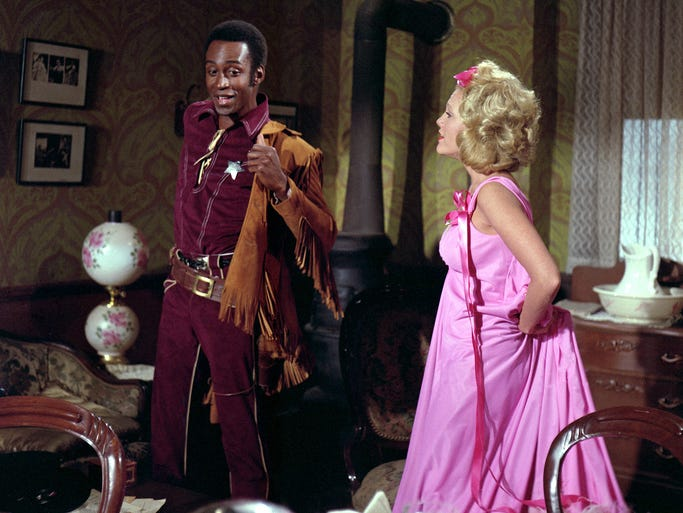 Cleavon Little stars as an unlikely sheriff and Madeline Kahn as the dance-hall singer who falls for him in 'Blazing Saddles.' The film turns 40 with a commemorative Blu-ray release (out May 6) featuring commentary from director and star Mel Brooks, who believes it is the greatest comedy ever.