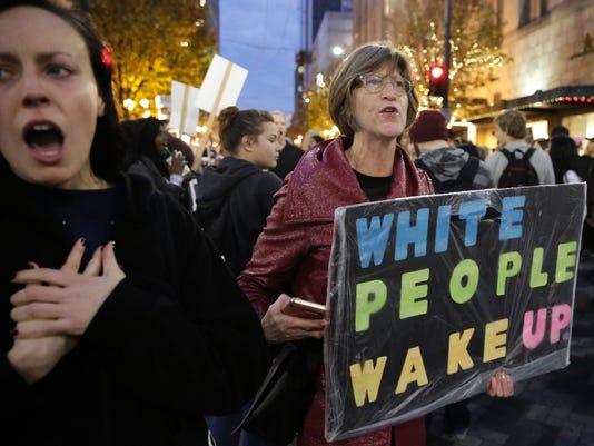 woman white people wake up
