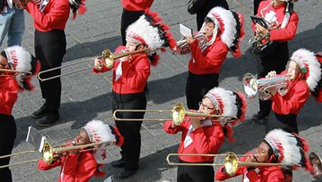 Biloxi High School Indians marching band