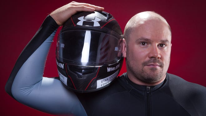 United States Olympic Winter Games bobsled competitor Steven Holcomb poses for a portrait at the 2013 Team USA Media Summit on Sept. 30 in Park City, Utah.