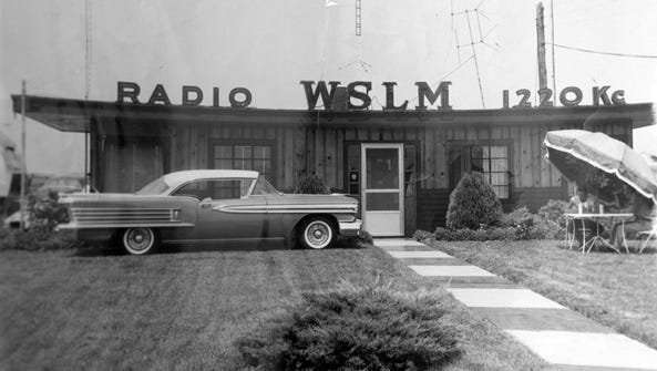 A historic photo of WSLM Radio 1220, in Salem, Ind.