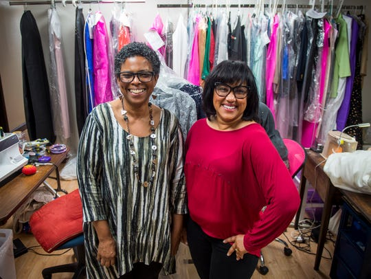 Sandra Spencer, left, is the owner of Sandra G's Alterations