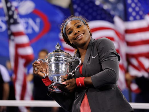 Serena Williams won the U.S. Open, her 17th grand slam title, on Sunday, defeating Victoria Azarenka in three sets.