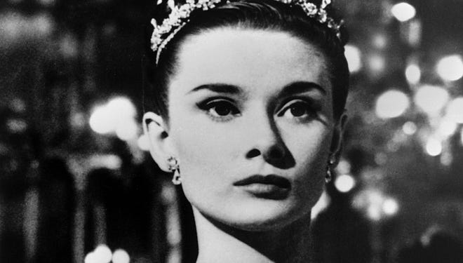 Audrey Hepburn in a scene from the 1953 motion picture 'Roman Holiday.'