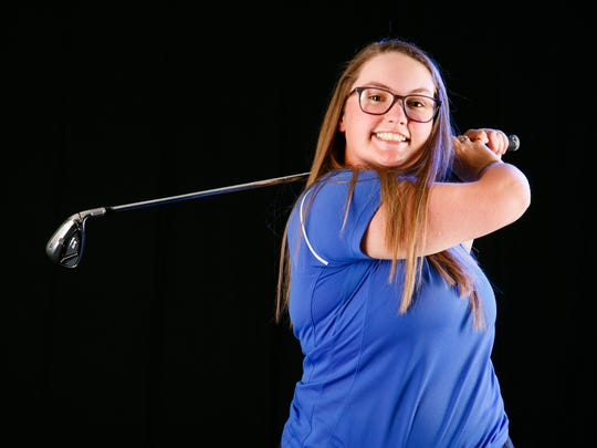 Katie Goodwin, a Blanchet High School athlete, is a finalist for Girls Golfer of the Year for the 2018 Statesman Journal Mid-Valley Sports Award. Photographed at the Statesman Journal in Salem on Wednesday, May 16, 2018.