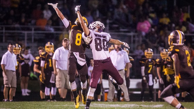 Monroe Central faces off against Wes-Del at Monroe Central High School Friday evening.