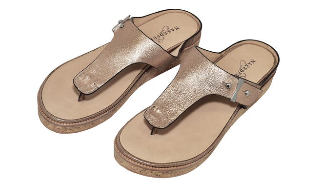 """Naked Feet, """"Hadidd"""" sandal, $120.The Market/Mainly Shoes"""