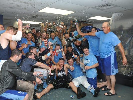 Blue Rocks Locker Room Celebrate