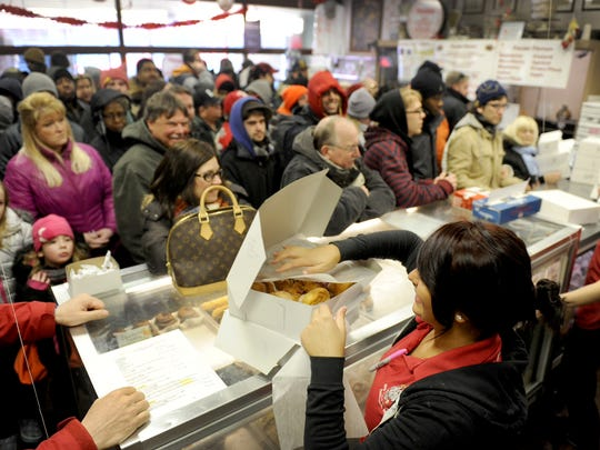None of the New Palace Bakery's 25 flavors are made too far in advance, to ensure customers get fresh paczki.