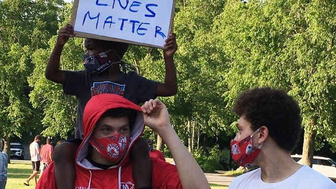 This photo was taken during the June 5 solidarity event in Topsfield.