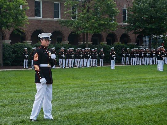 Sgt. Maj. Angela Maness, Marine Barracks Washington's