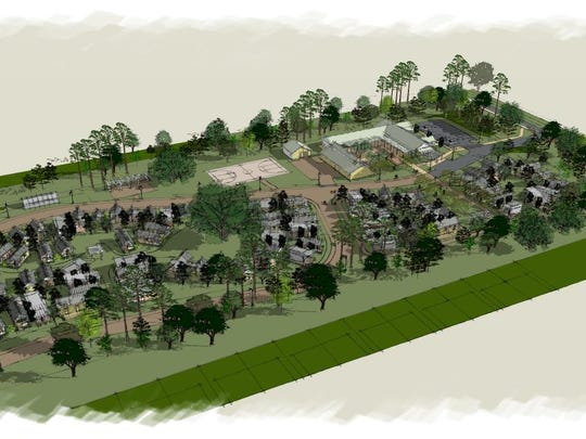 A conceptual drawing of the Dwellings,