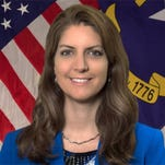 Kathryn Johnston was appointed in March by Gov. Pat McCrory to serve as secretary of the Department of Administration. She recently visited Western North Carolina as part of a domestic violence fact-finding mission.