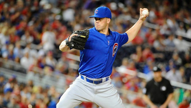 Clayton Richard lost his place on the Chicago Cubs' roster Tuesday to All-Star reliever Aroldis Chapman.