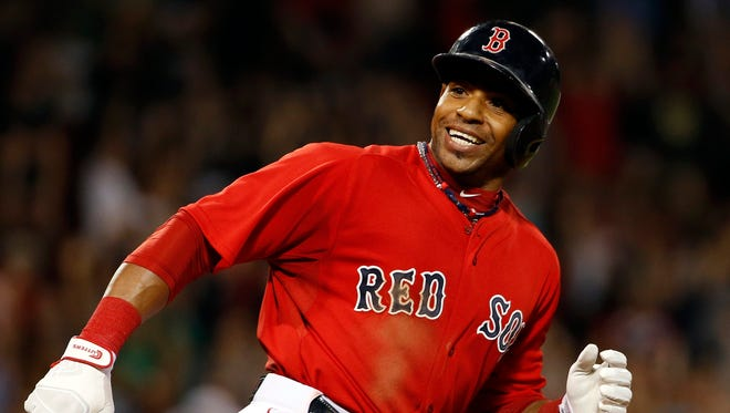 Boston Red Sox outfielder Yoenis Cespedes on Sept. 5, 2014.