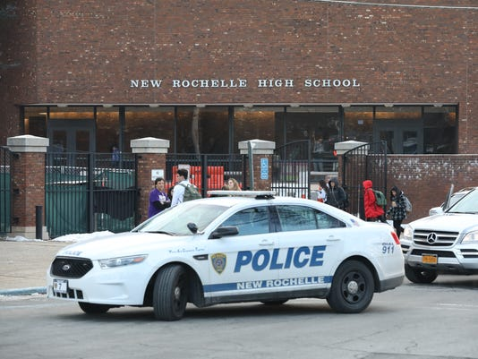 Police at New Rochelle High School 1/19/18