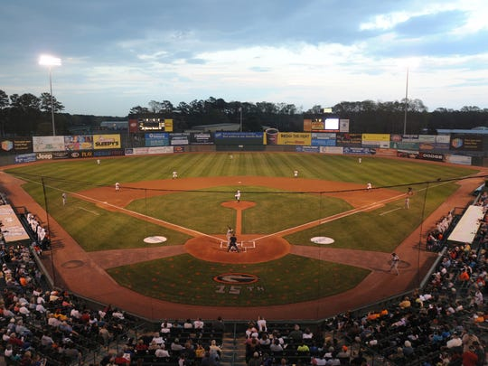 A view of Arthur W. Perdue Stadium as it looked in 2010. A plan to renovate and upgrade Arthur W. Perdue Stadium, home of the Delmarva Shorebirds, is needed but requires transparency with the public at every stage of the project.  File photo Shorebirds starting pitcher Jesse Beal delivers to the plate on opening night Friday at Arthur W. Perdue Stadium in Salsibury.