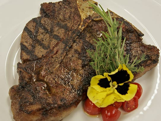 T-bone steak at AJ's Steakhouse at Prairie Meadows