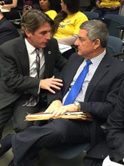 House Appropriations Chairman Cameron Henry, R-Metairie, (left) with Commissioner of Administration Jay Dardenne.