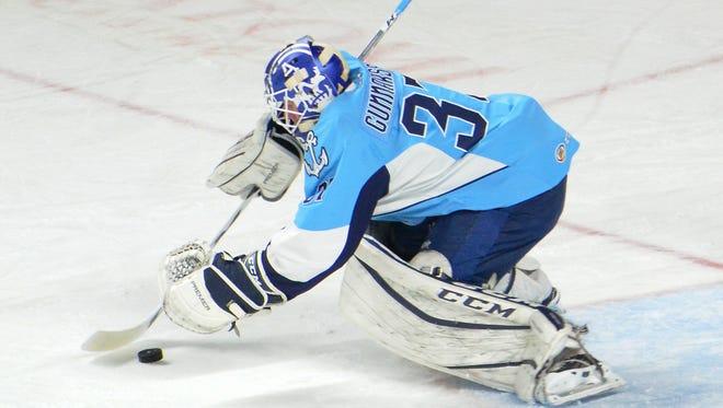 Milwaukee Admirals goalie Jonas Gunnarsson.