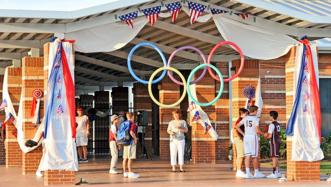 Sts. Peter & Paul Catholic School celebrates the first day of the 2016/17 school year with an Olympic theme.