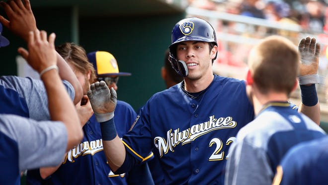 Christian Yelich, one of the newest additions, should provide some offensive firepower for the Milwaukee Brewers this season.