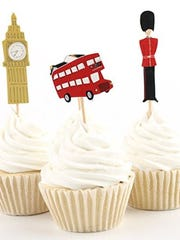 These cute cupcake toppers will add a little London