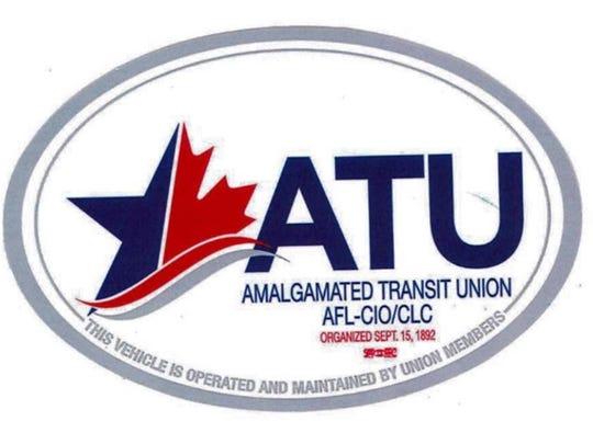 The Amalgamated Transit Union's logo.