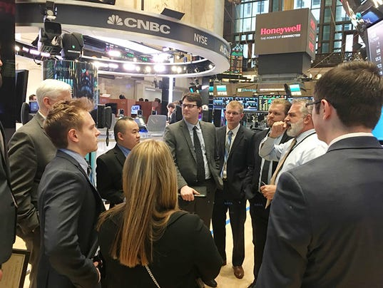 Stock Exchange floor a rare experience for students