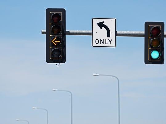 Yellow Turn Arrows