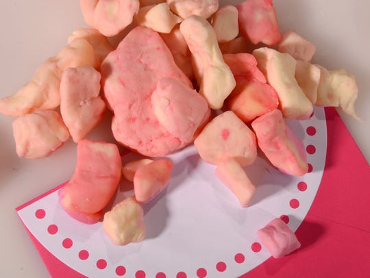 Valentine's Day cheese curds from Ron's Wisconsin Cheese