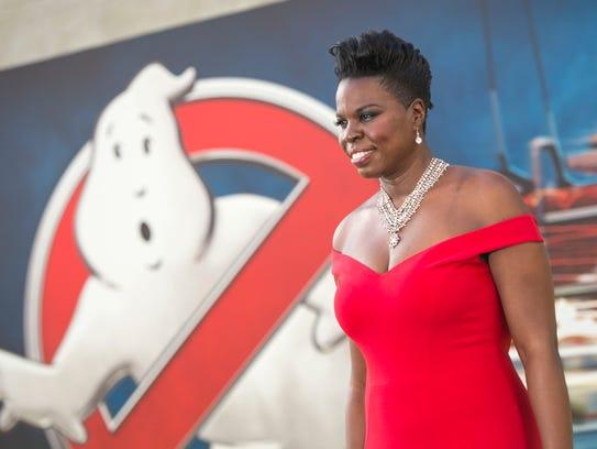 Leslie Jones at the LA premiere of 'Ghostbusters.'