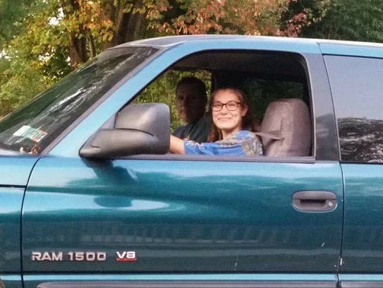 16-year-old Abigail Osborn got her first car, a Chevrolet