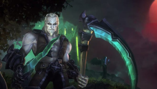 "Diablo II necromancer Xul enters the Nexus in ""Heroes of the Storm."""