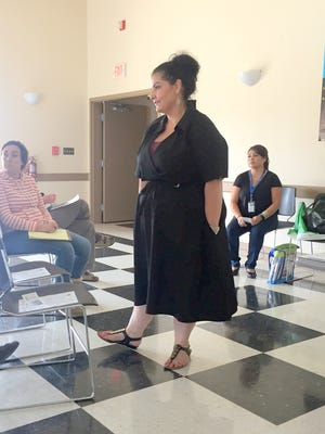 Dr. Amanda Lopez Askin instructed law enforcement, educators and social workers on suicide prevention last week at the Bayard Community Center. She works for the New Mexico Department of Health out of Las Cruces and was training on the QPR Insttute method as everyone being gatekeepers of suicide prevention.