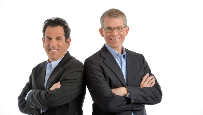 """Dr. Tony Ferretti, left, and Dr. Peter Weiss tackle relationships in their new book, """"The Love Fight."""""""