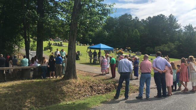 Members of the congregation, visitors and former members were on hand Sunday for the annual homecoming and Decoration Day at Unity Baptist Church in the Duck Springs community.