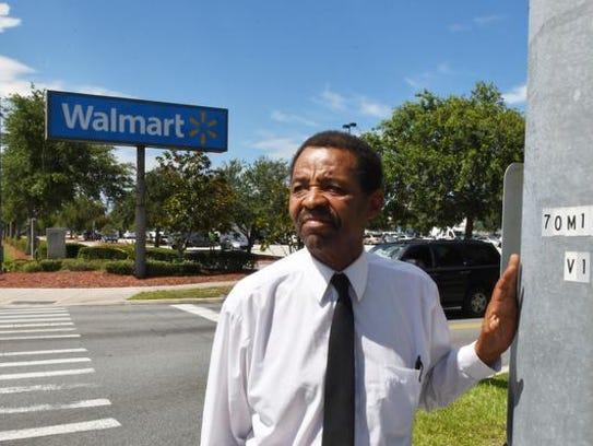 Standing near the Cocoa Walmart. Pastor Tommy Studstill,
