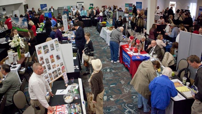 More than 90 area businesses set up booths during the Blue Water Business Expo Thursday at the DoubleTree by Hilton in Port Huron.