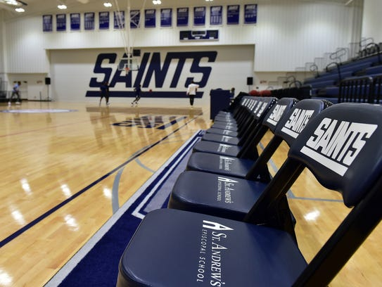St. Andrews basketball players test out their new multimillion