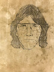 A 1985 police sketch of a suspect in the Kimberly Dowell and Ethan Dixon slayings in Westside Park.