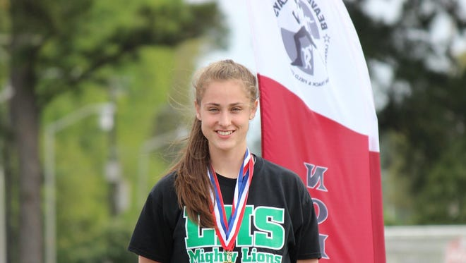 Lafayette High's Stephanie Self won three events at the Tabasco Relays in New Iberia on Friday.