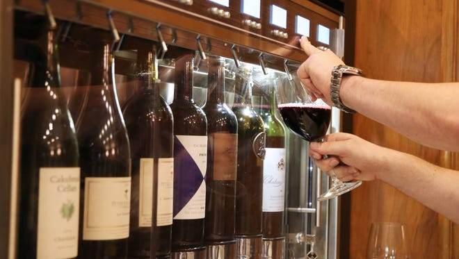 Jamie's Wine bar features a Wineemotion™ dispensing and preservation system. The device, which holds 8 bottles, allows wines that typically were offered only by the bottle to be served by the glass without losing quality.