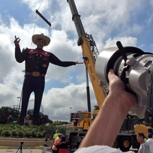 SEPT. 19, 2014: Big Tex installed at Fair Grounds in Dallas a week before the 2014 State Fair.