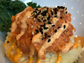 Crispy rice with spicy tuna at Little Bear Poke in
